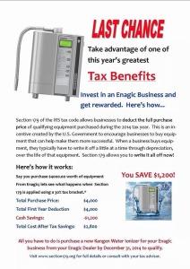 Enagic Tax Deductible
