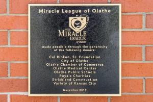 Miracle League Plaque